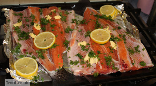 Dressed Trout Before Being Grilled