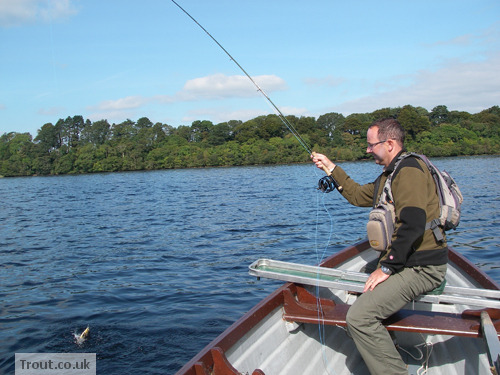 John Tyzack with a Brownie on Lough Leane