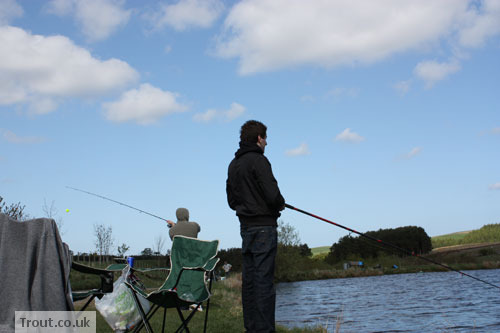 Fishing in the Tweedale Millennium Fishery Bait Pool